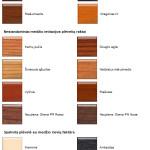 langu laminavimas spalvu palete